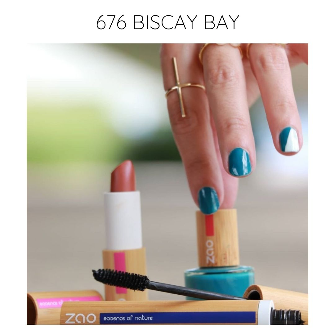 Certified natural, organic vegan bio sourced nail polish biscay bay 676
