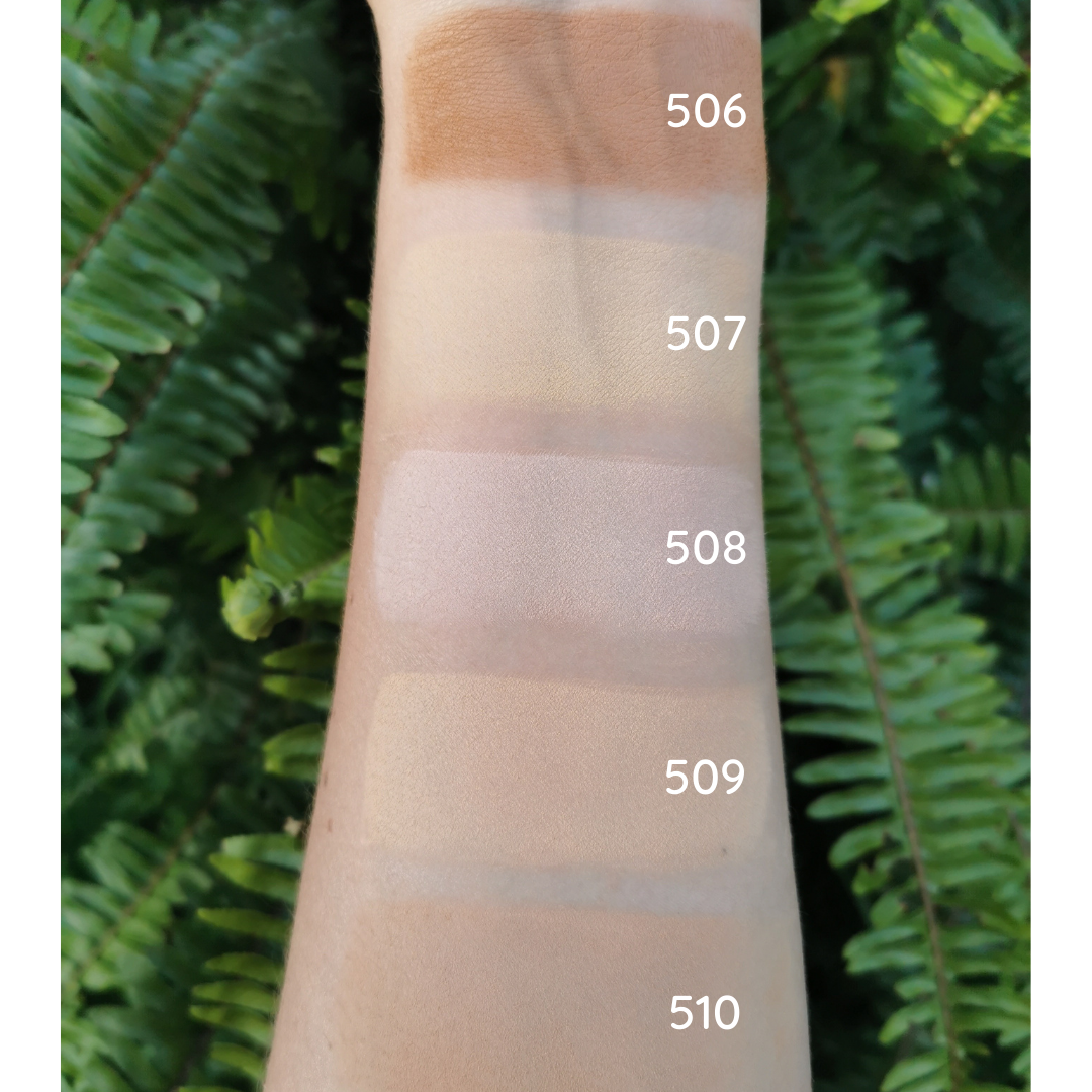 Certified natural, organic vegan mineral silk foundation