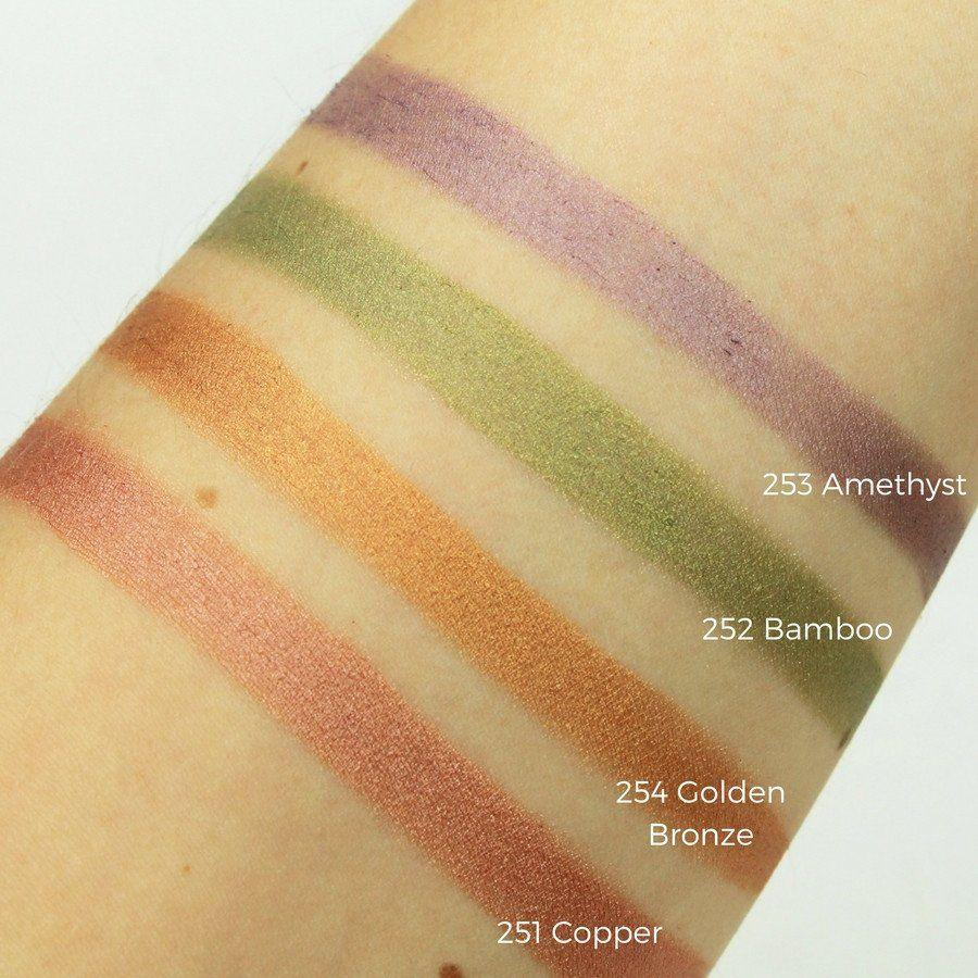 Certified natural, organic vegan BB cream mineral eyeshadow bright colours