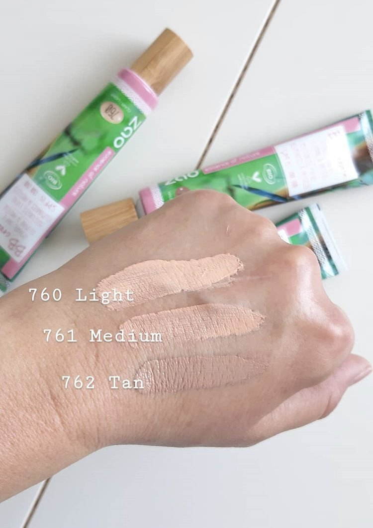 Certified natural, organic vegan BB cream natural spf15 swatch