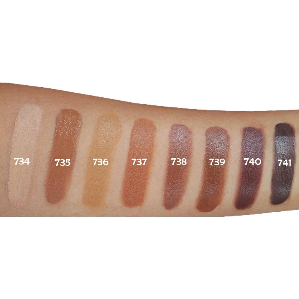 Certified natural, organic vegan cream compact foundation swatch