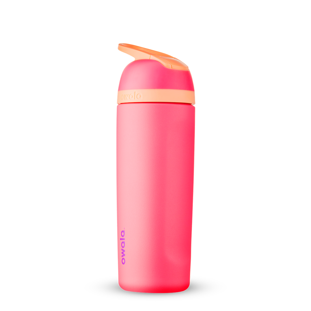 19oz Hyper Flamingo Stainless Steel Insulated Owala Flip Water Bottle