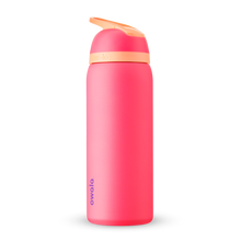 Load image into Gallery viewer, 32oz Hyper Flamingo Stainless Steel Insulated Owala Flip Water Bottle