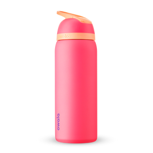 32oz Hyper Flamingo Stainless Steel Insulated Owala Flip Water Bottle