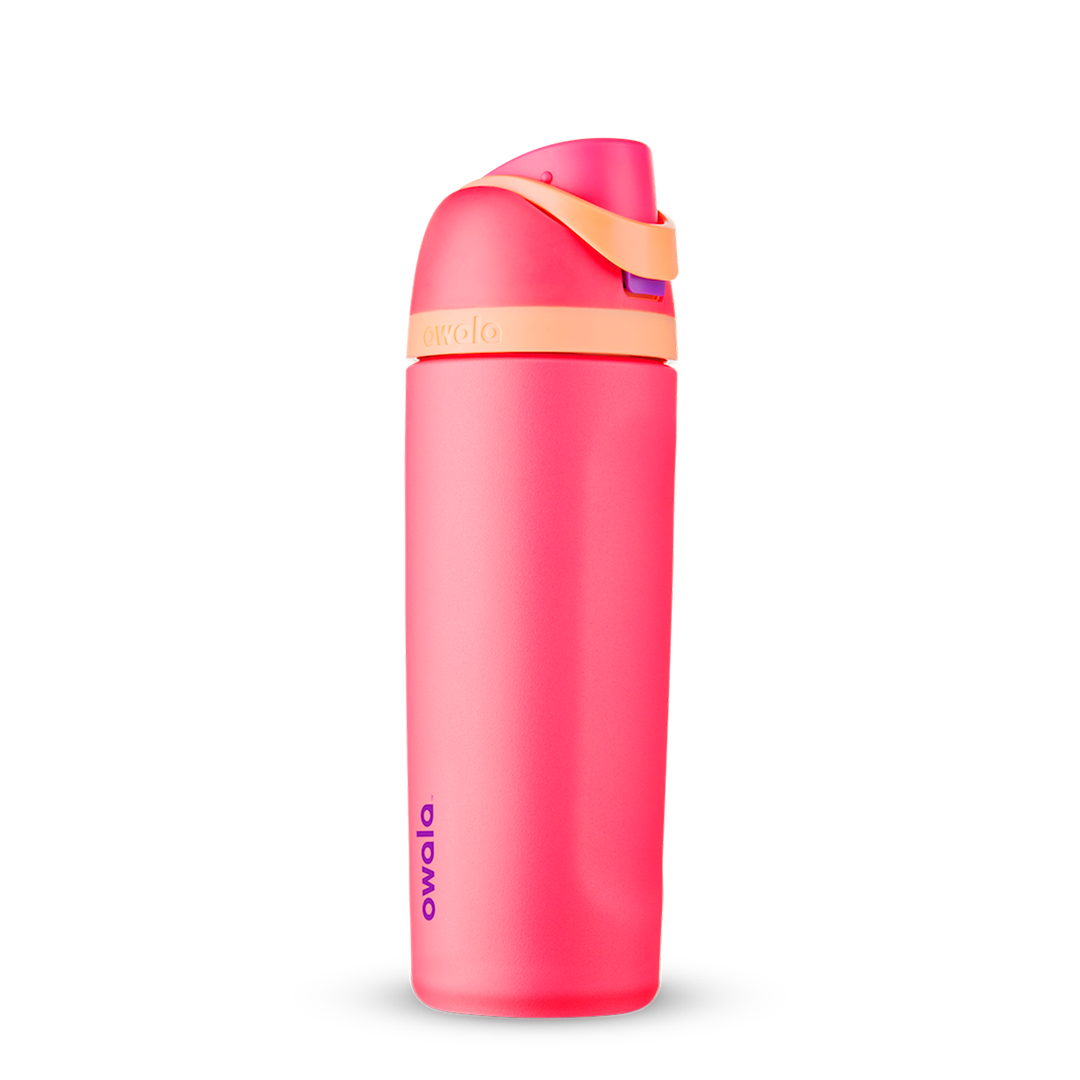 24oz Hyper Flamingo Stainless Steel Insulated Owala FreeSip Water Bottle