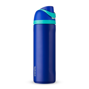 24oz Smooshed Blueberry Stainless Steel Insulated Owala FreeSip Water Bottle