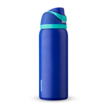 Load image into Gallery viewer, 32oz Smooshed Blueberry Stainless Steel Insulated Owala FreeSip Water Bottle