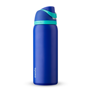 32oz Smooshed Blueberry Stainless Steel Insulated Owala FreeSip Water Bottle