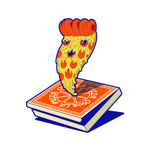 peppy pizza sticker