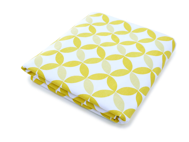 Tops Organic Fitted Crib Sheet - Yellow