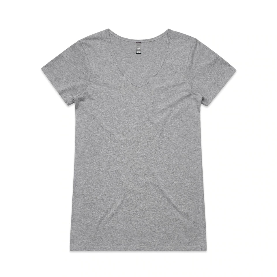 AS COLOUR WOMEN'S BEVEL V-NECK T-SHIRT - 4010
