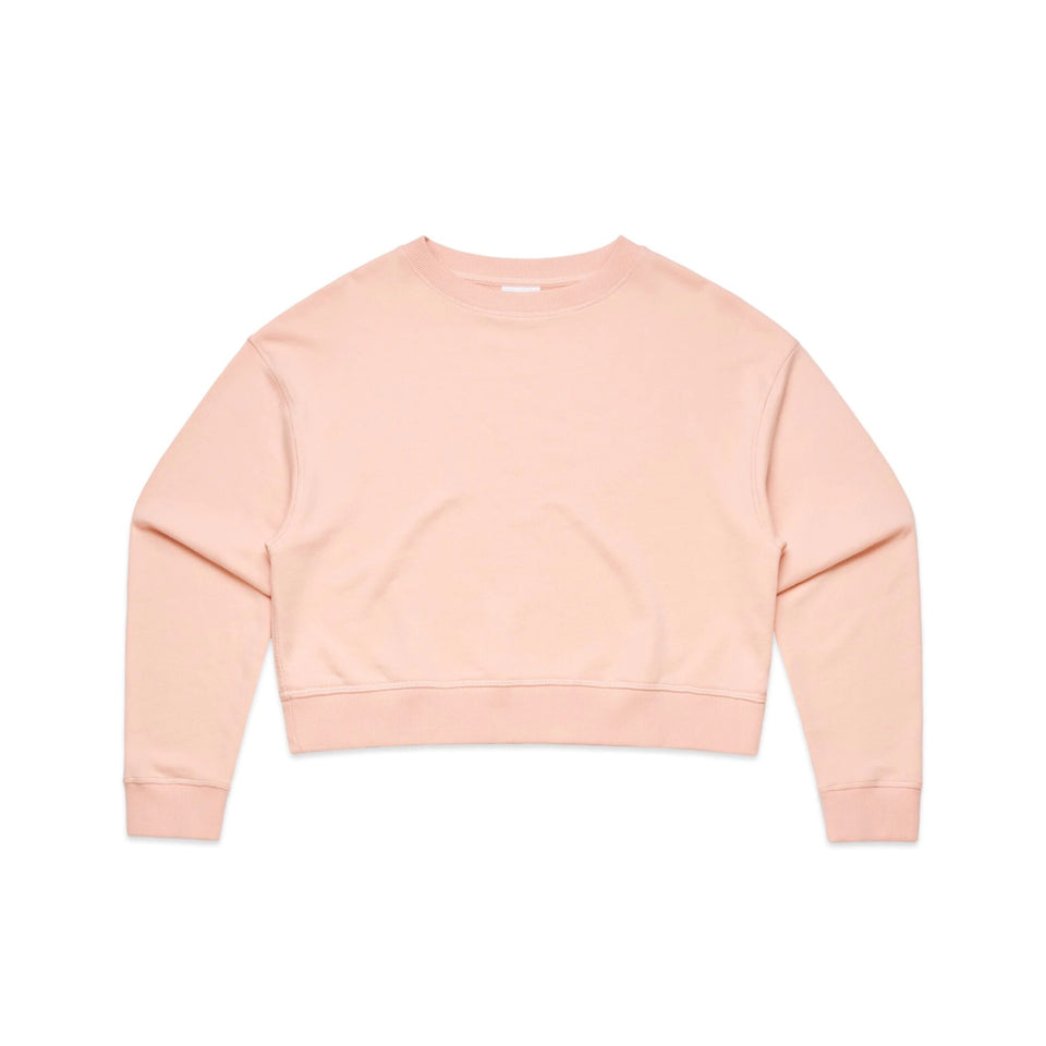 AS COLOUR - WO'S CROP CREW JUMPER - 4123