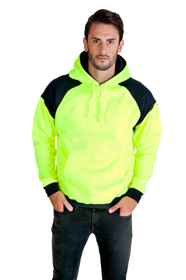 RAMO - Men's Shoulder Contrast Panel hooded jumper- F303HPW
