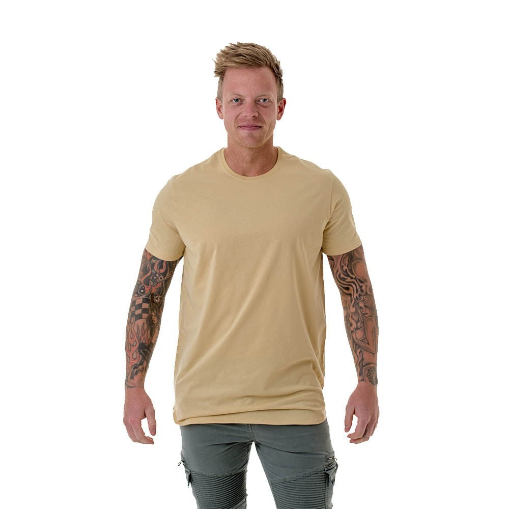 CB CLOTHING – MEN'S LONG CURVED T-SHIRT