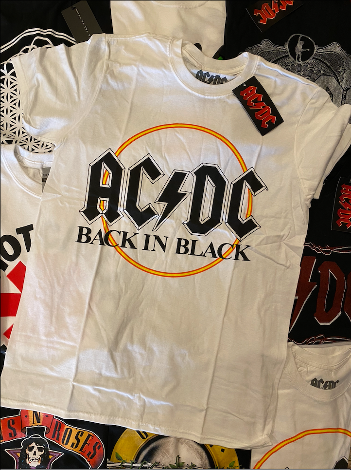 ACDC UNISEX TEE: BACK IN BLACK
