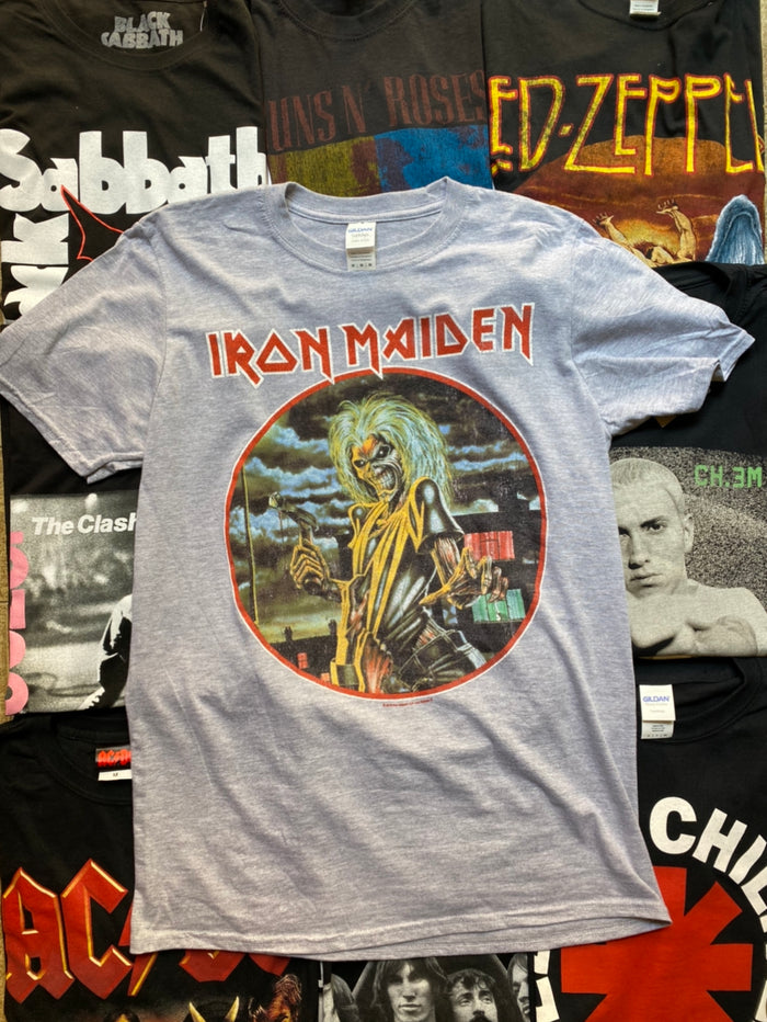 IRON MAIDEN UNISEX TEE: KILLERS CIRCLE