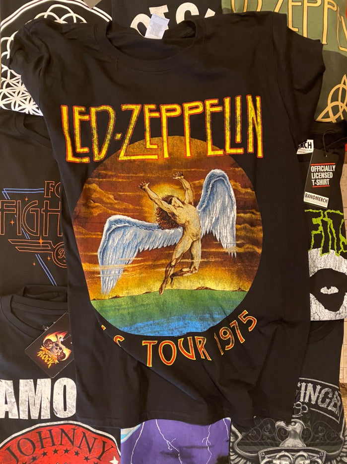 LED ZEPPELIN UNISEX TEE: USA TOUR '75