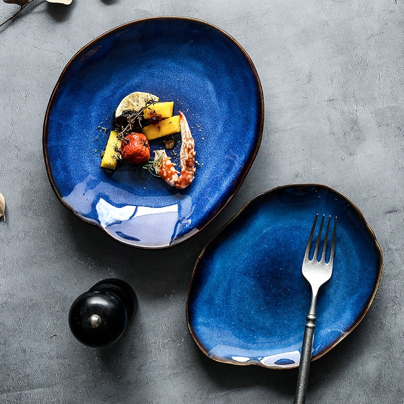 Asymmetric Ceramic Dish