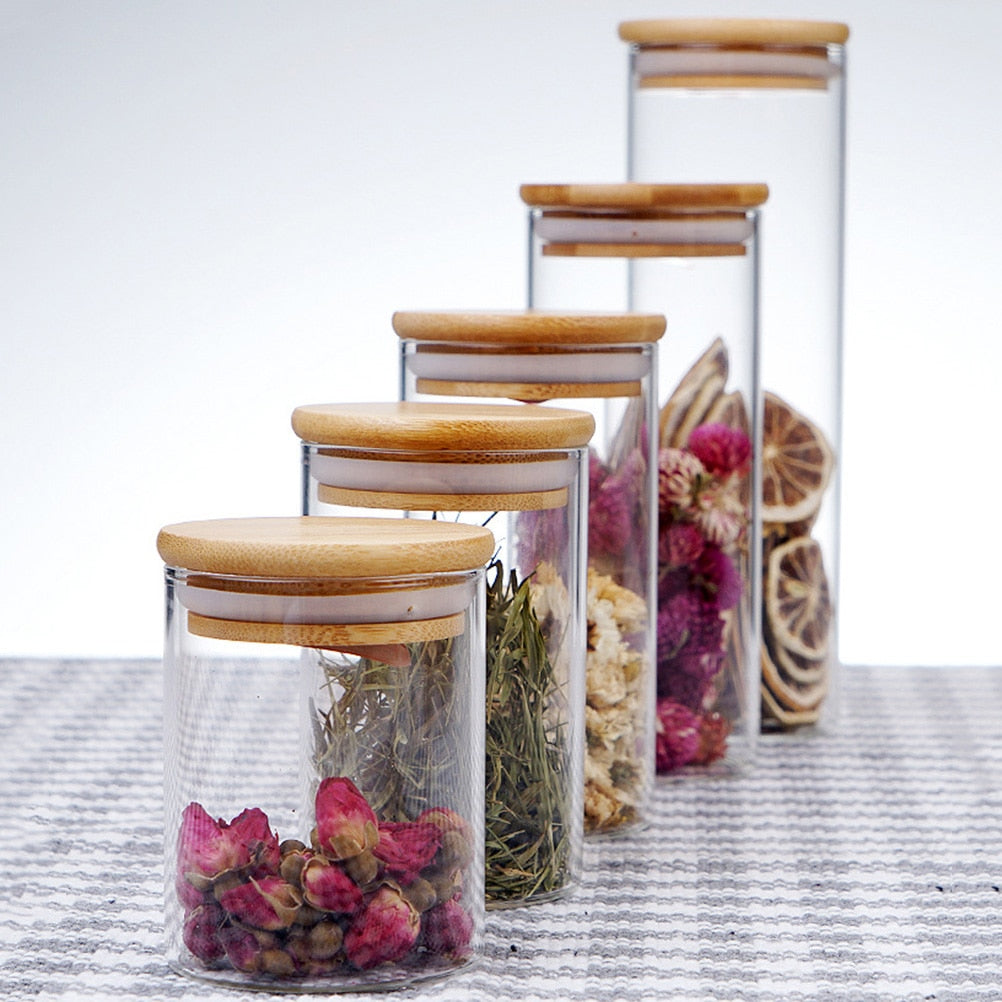 Glass Jar with Bamboo Lid