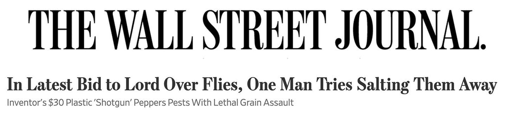 Wall Street Journal Article - In Latest Bid to Lord Over Flies, One Man Tries Salting Them Away