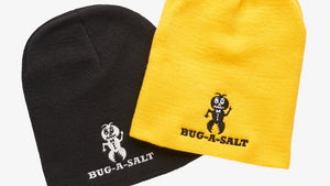 Two Bug-A-Salt Beanies