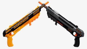 Two Bug-A-Salt guns, Orange Crush and Black Fly BUG-A-SALT guns
