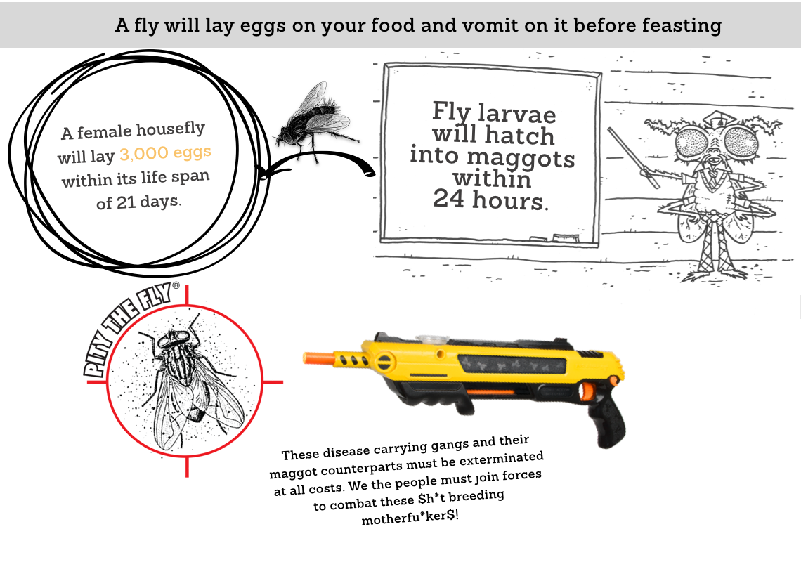 A female housefly will lay 3,000 eggs within its lifespan of 21 days. Fly larvae will hatch within 24 hours.