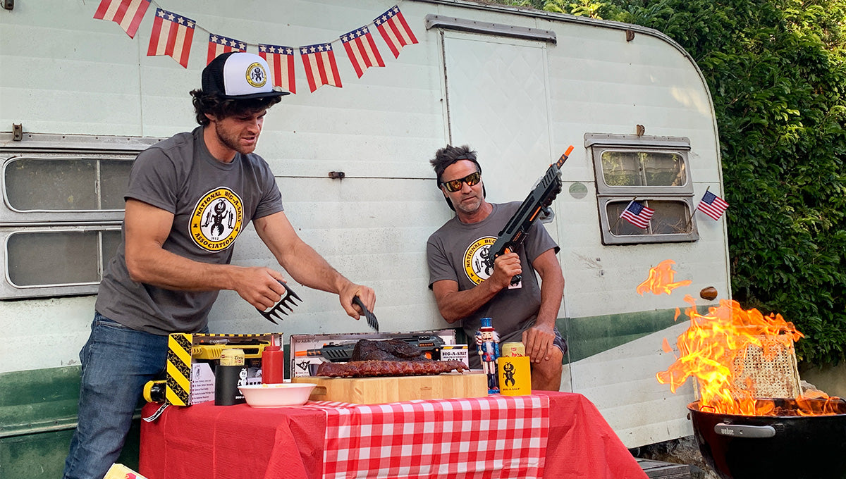 4th of July Grillmaster Special - Meat Claws + T-Shirt + Gun!