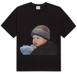 ADLV BABY FACE SHORT SLEEVE T-SHIRT BLACK WINTER BOY