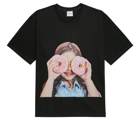 ADLV BABY FACE SHORT SLEEVE T-SHIRT BLACK DONUT 3
