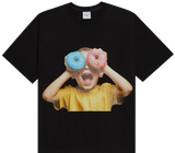 ADLV BABY FACE SHORT SLEEVE T-SHIRT BLACK DONUTS 5