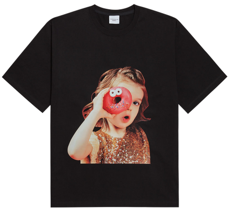 ADLV BABY FACE SHORT SLEEVE T-SHIRT BLACK DONUTS 4