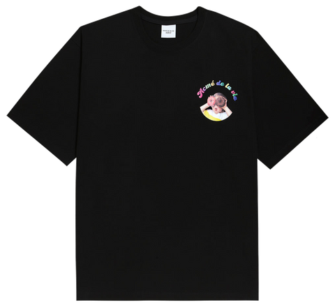 ADLV BABY FACE SHORT SLEEVE T-SHIRT BLACK MINI DONUTS 1