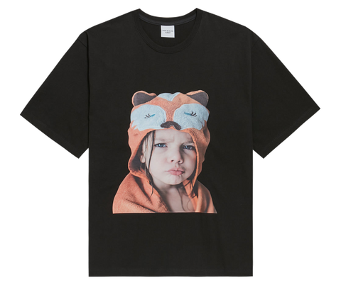 ADLV BABY FACE SHORT SLEEVE T-SHIRT BLACK RACCOON