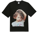 ADLV BABY FACE SHORT SLEEVE T-SHIRT BLACK WHITE T-SHIRT GIRL