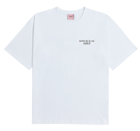 ADLV BACK ANGEL APEACH SHORT SLEEVE T-SHIRT WHITE