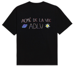 ADLV CRAYON LOGO SHORT SLEEVE T-SHIRT BLACK