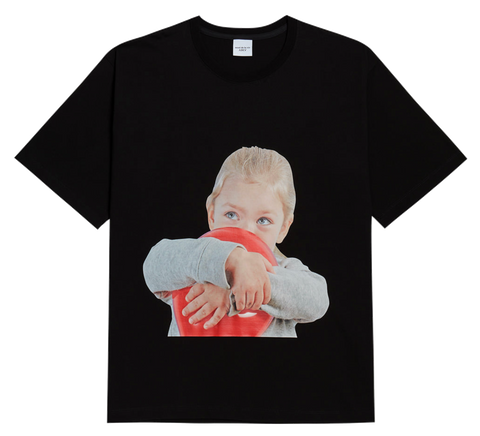 ADLV BABY FACE SHORT SLEEVE T-SHIRT BLACK BALLOON