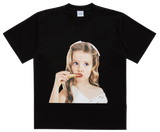 ADLV BABY FACE SHORT SLEEVE T-SHIRT BLACK LIP STICK