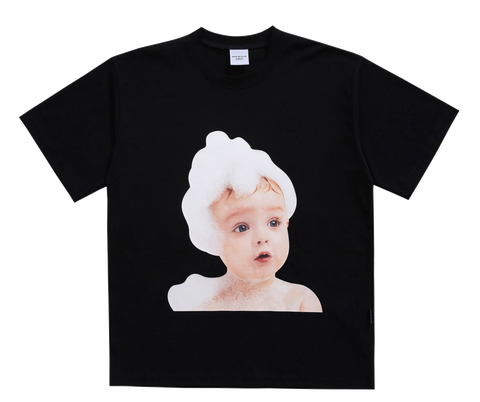 ADLV BABY FACE SHORT SLEEVE T-SHIRT BLACK BUBBLE