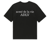 ADLV BABY FACE SHORT SLEEVE T-SHIRT BLACK YELLOW T-SHIRT