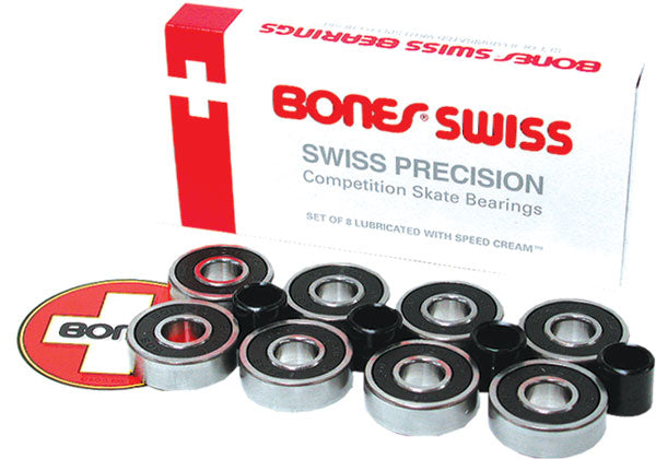 c674a50aa4333 The Bones® Swiss Skate bearings has been in the market since 1983 and has  since secured its place at the top the bearings category.
