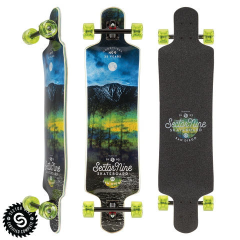"Sector 9 Midnight Faultline 39.5"" Longboard"