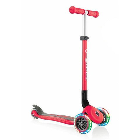 Globber Primo Foldable Lights Red Kids Scooter