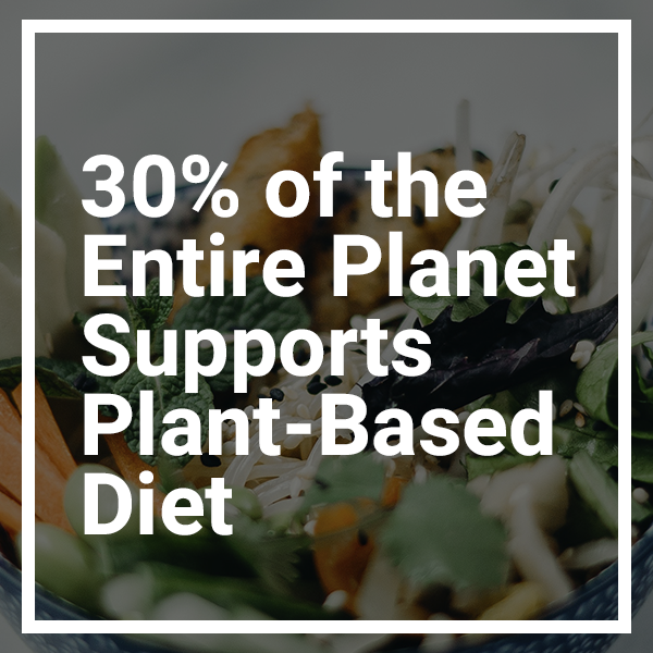 UN Reveals 30% of the Entire Planet Supports Plant-Based Diet as a Climate Policy