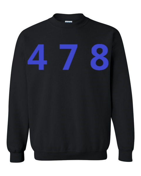 478 Area Code Crew - Black/Blue