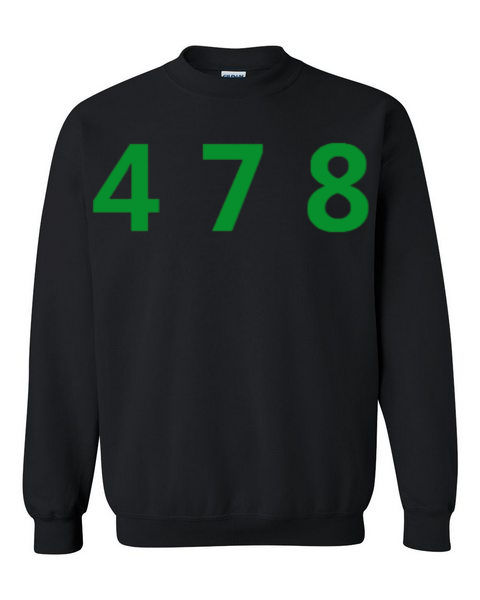 478 Area Code Crew - Black/Green