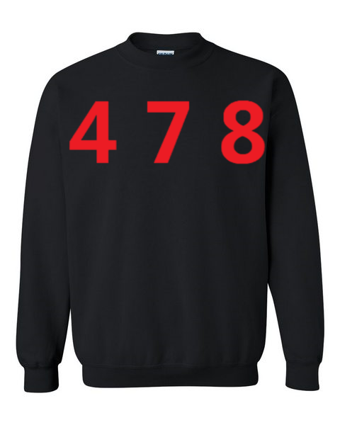 478 Area Code Crew - Black/Red