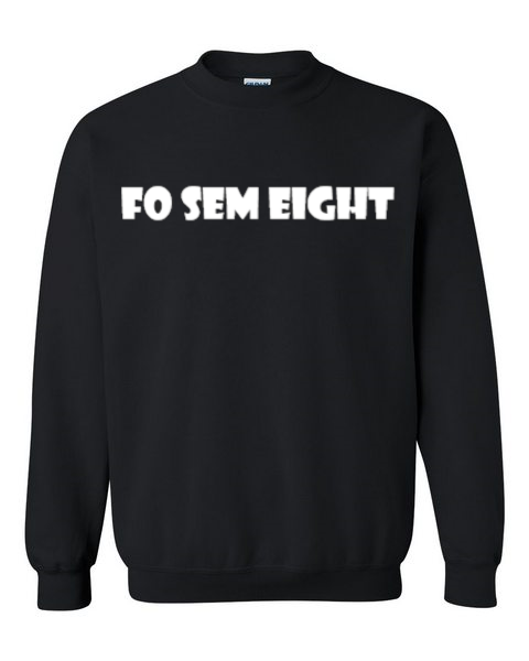 Fo Sem Eight Crew - Black/White