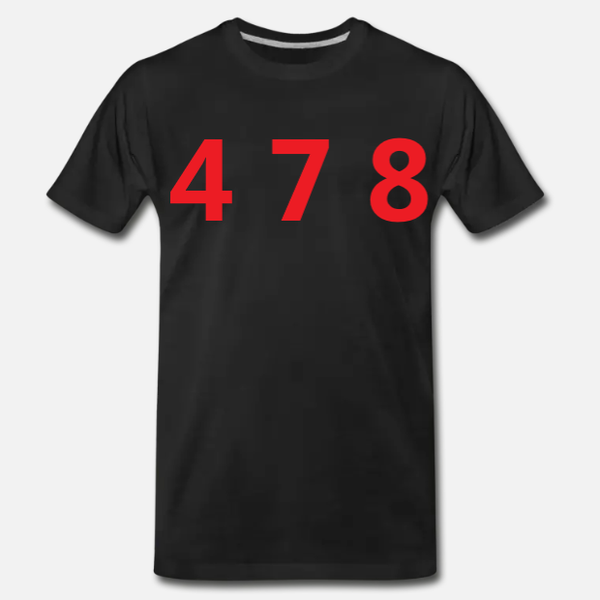 478 Area Code Tee - Black/Red
